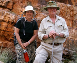 Jane with Major General Michael Jeffery